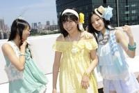 SKE48(左から)木崎ゆりあ、向田茉夏、矢神久美  (撮影:原田宗孝)