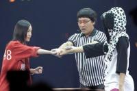 『24thシングル選抜じゃんけん大会』に参加した、SKE48の松井珠理奈 (写真:鈴木一なり)
