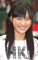 西武ドームでお披露目されたHKT48の今田美奈(いまだ みな・中3)