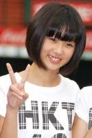 西武ドームでお披露目されたHKT48の熊沢世莉奈(くまざわ せりな・中2)