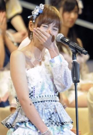 AKB48の篠田麻里子<br>『第5回 AKB48選抜総選挙』の模様