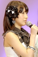 『第4回AKB48選抜総選挙』<br>50位 石田晴香(AKB・B) 得票数:6333票<br>去年は圏外で悔しかった。今回の皆さまの気持ちに感謝です。でも50位に満足していない。いろいろな思い出がある武道館、笑顔でいられてよかった。