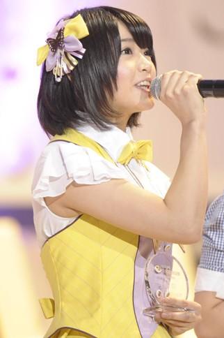 『第4回AKB48選抜総選挙』<br>62位 矢方美紀(SKE・KII) 得票数:5606票<br>速報37位で泣いてしまった。今日は泣かずに皆さんと笑うと約束していた。日本中、世界中に笑顔をばらまいていきたい。