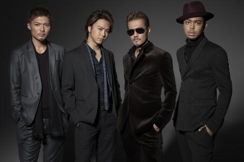 EXILE(左からSHOKICHI、TAKAHIRO、ATSUSHI、NESMITH)