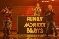 『第63回 NHK紅白歌合戦』リハーサルに参加した<br>FUNKY MONKEY BABYS(左からファンキー加藤、モン吉、DJケミカル)
