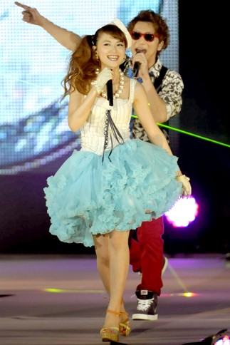 『GirlsAward 2013 SPRING/SUMMER』に出演した<br>mihimaru GT