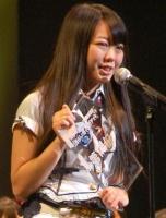 『第2回AKB48選抜総選挙』開票イベントの模様<br>14位 峯岸みなみ