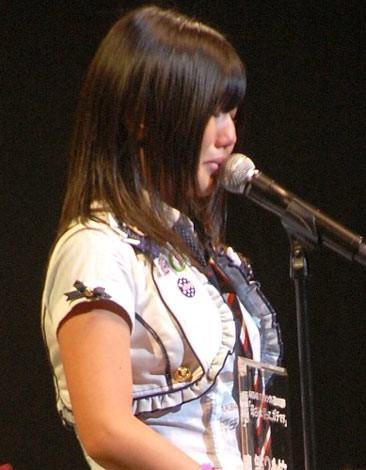 『第2回AKB48選抜総選挙』開票イベントの模様<br>21位 宮崎美穂