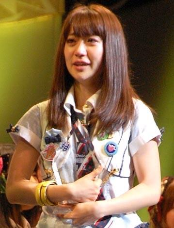 『第2回AKB48選抜総選挙』開票イベントの模様<br>1位 大島優子