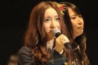 『第3回AKB48選抜総選挙』開票イベントの模様<br>22位 梅田彩佳