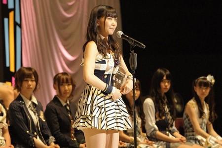 『第3回AKB48選抜総選挙』開票イベントの模様<br>3位 柏木由紀