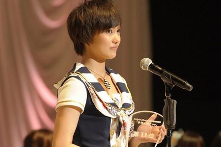『第3回AKB48選抜総選挙』開票イベントの模様<br>11位 宮澤佐江