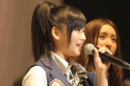 『第3回AKB48選抜総選挙』開票イベントの模様<br>24位 仲川遥香
