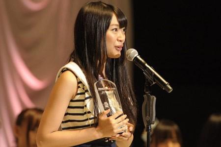 『第3回AKB48選抜総選挙』開票イベントの模様<br>13位 北原里英