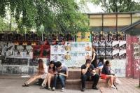 若者たちが集うテハンノの様子<br>韓国ミュージカル特集『若者文化の発信地、韓国・テハンノで活況を呈する創作ミュージカル』⇒