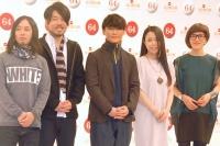 『第64回NHK紅白歌合戦』に初出場するサカナクション(左から)岩寺基晴、江島啓一、山口一郎、草刈愛美、岡崎英美