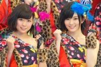 『第64回NHK紅白歌合戦』に初出場するNMB48(左から)渡辺美優紀、山本彩
