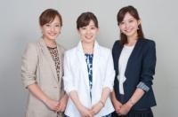 テレビ朝日(左から)島本真衣、松尾由美子、久冨慶子<br><b>