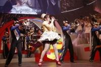 『第3回AKB48紅白対抗歌合戦』<br>【紅組 2曲目】「ラッパ練習中」を歌う川栄李奈 (C)AKS
