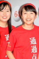 『第64回NHK紅白歌合戦』の初日リハーサルに参加した<br>ももいろクローバーZ(左から有安杏果、百田夏菜子)<br>[出場2回目/「ももいろ紅白2013だZ!!」]<br><br>