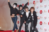 『第64回NHK紅白歌合戦』のリハーサルに参加した<br>ゴールデンボンバー(左から樽美酒研二、歌広場淳、喜矢武豊、鬼龍院翔)<br>[出場2回目/「女々しくて」]<br><br>