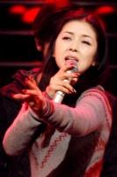 『第64回NHK紅白歌合戦』の初日リハーサルに参加した<br>演歌歌手の藤あや子[出場19回目/「紅い糸」]<br><br>