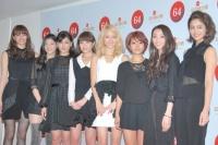 『第64回NHK紅白歌合戦』の初日リハーサルに参加した<br>E-girls[初出場/「E-girls 紅白スペシャルメドレー2013」]<br><br>