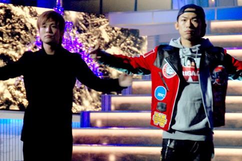 『第64回NHK紅白歌合戦』の初日リハーサルに参加した<br>三代目 J Soul Brothers(左から岩田剛典、NAOTO)<br>[出場2回目/「冬物語」]<br><br>