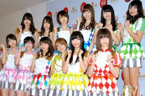 『第64回NHK紅白歌合戦』の初日リハーサルに参加した<br>AKB48[出場6回目/「紅白2013SP〜AKB48フェスティバル!〜」]<br><br>