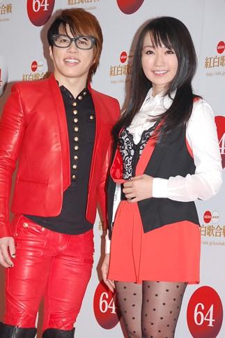 『第64回NHK紅白歌合戦』の初日リハーサルに参加した<br>水樹奈々×T.M.Revolution[水樹奈々は出場5回目/T.M.Revolutionは出場4回目/「−革命2013−紅白スペシャルコラボレーション」]<br><br>