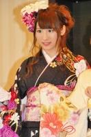 2014年のAKB48グループ 成人式記念撮影会に出席した<br> SKE48 チームS 阿比留李帆