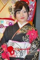 2014年のAKB48グループ 成人式記念撮影会に出席した<br> AKB48 チームK 内田眞由美