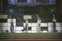 『リクエストアワーセットリストベスト200 2014』<br> 189位「向日葵」<br> (左から)大島涼花、田野優花、高橋朱里、永尾まりや