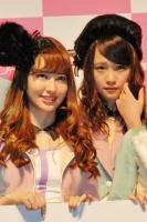 『リクエストアワーセットリストベスト200 2014』<br> 1日目開催前に行われた『AKB48 チーム8プロジェクト』発表会の模様<br>(左から)小嶋陽菜、川栄李奈