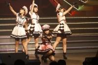 『AKB48 ユニット祭り 2014』の模様<br>10曲目「他人行儀なSunset beach」<br>(左から)山内鈴蘭、須田亜香里、渡辺美優紀、多田愛佳