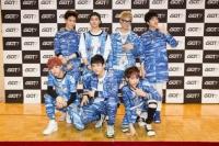 GOT7(左から時計回りにユギョム、ジャクソン、JB、ヨンジェ、ベンベン、Jr.、マーク)(