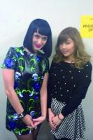 『U-EXPRESS LIVE 2014』で共演したケイティ・ペリーとMACO