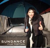 米サンダンス映画祭を訪れた知英。自身のInstagramでも映画祭を楽しんでいる様子を伝えている