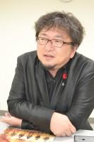 インタビューに答える樋口真嗣監督