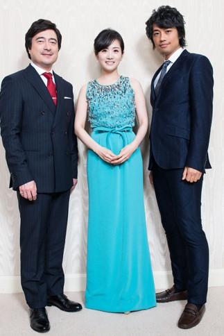 (左から)ジョン・カビラ、高島彩、斎藤工