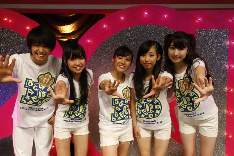 Dream5(左から)高野洸、大原優乃、重本ことり、玉川桃奈、日比美思