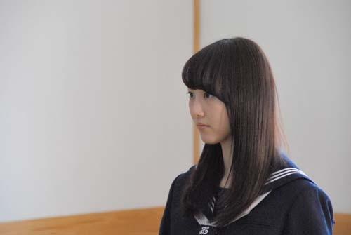 「松井玲奈 旅立ち〜どこに行ってもつながっている〜」篇の撮影風景 (C)oricon ME inc.