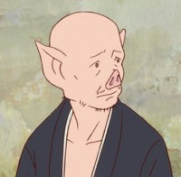百秋坊(ひゃくしゅうぼう):豚顔の僧侶で熊徹の悪友。九太を優しく見守る。
