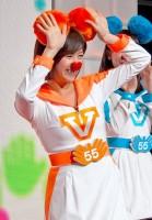 テレビ朝日の55周年応援隊ユニット『ゴーちゃん。GIRLS』として踊りを披露した、宇佐美佑果アナ (C)ORICON DD inc.