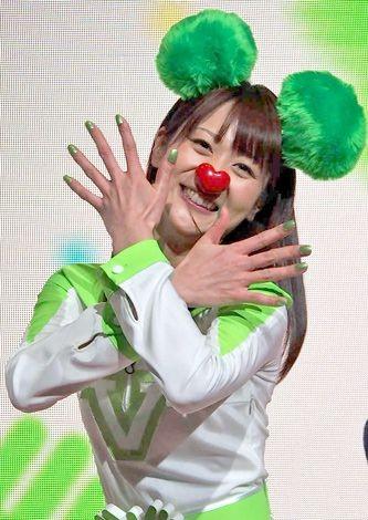 テレビ朝日の55周年応援隊ユニット『ゴーちゃん。GIRLS』として踊りを披露した、森葉子アナ (C)ORICON DD inc.