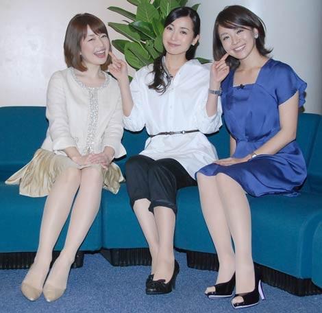 テレビ東京の(左から)松丸友紀アナ、大江麻理子アナ、大橋未歩アナ