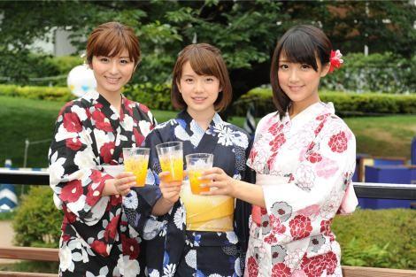 (左から)宇賀なつみ、弘中綾香、竹内由恵(テレビ朝日)アナウンサー