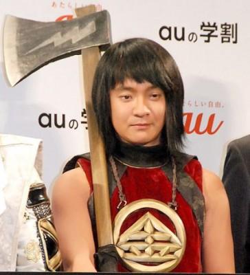auの「三太郎シリーズ」での金太郎役姿