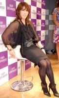 『2009ミス・ユニバース・ジャパン』のPR会見のゲストに、黒のセクシー衣装で登場した吉田沙保里(C)ORICON NewS inc.
