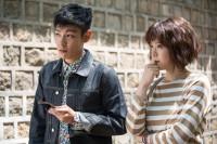 dTVドラマ『シークレット・メッセージ』(左から)チェ・スンヒョン、上野樹里